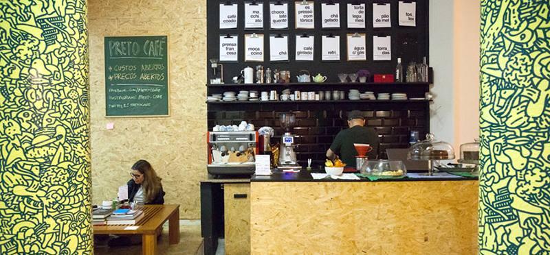 modelo de cafeteria preto café